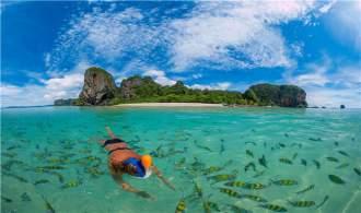 立减400【含国庆】 泰国布吉蓝钻珊瑚岛 甲米神奇四岛联游双飞5天【广州往返】